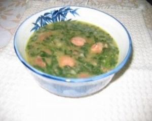 Sopa de espinafre fácil