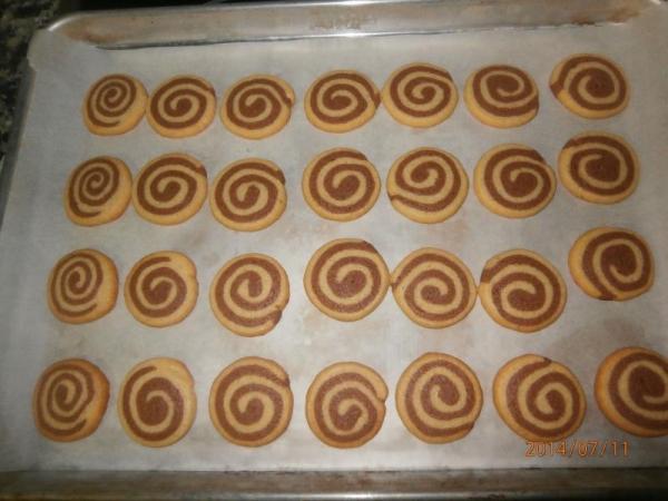 Bolachas em Espiral de Nutella