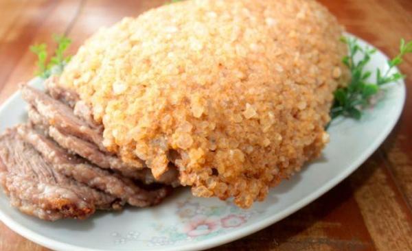 Picanha assada na crosta de sal grosso