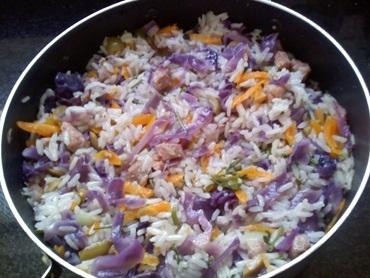 Risoto Doris Day (arroz colorido fácil)