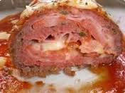 Carne moída recheada, assada no forno