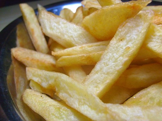 Batata frita sequinha