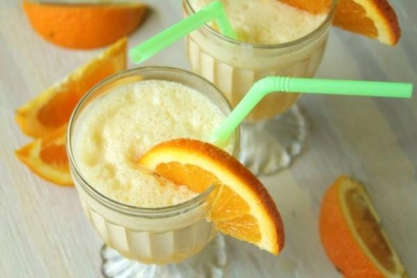 Suco de laranja cremoso