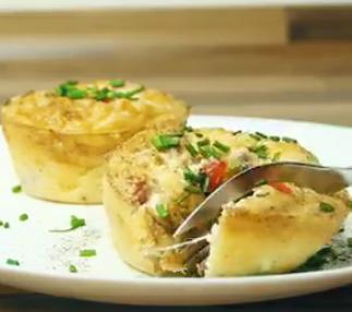 Omelete em forminhas