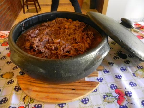 Barreado de Carne e Linguiça