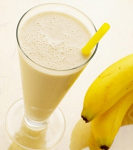 Vitamina de banana saudável