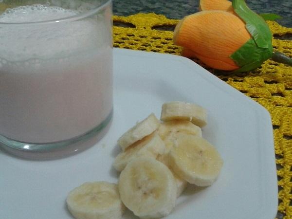 Vitamina de banana e danone