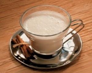 Bebida de leite moça e Gengibre