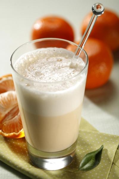 Suco de tangerina e aveia