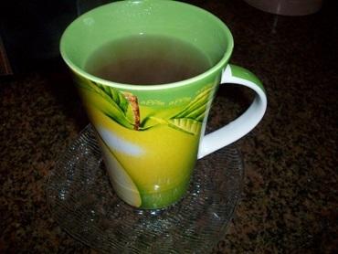 Chá de casca de maçã