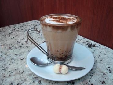Café gelado com sorvete