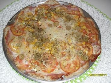 Pizza com pão de forma