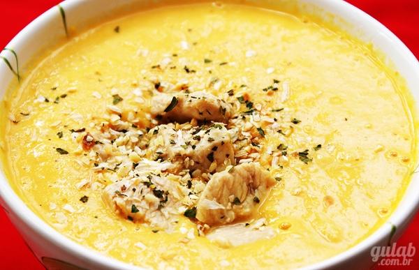 Sopa de Milho Verde e Frango
