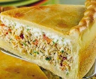 Torta de frango folhada