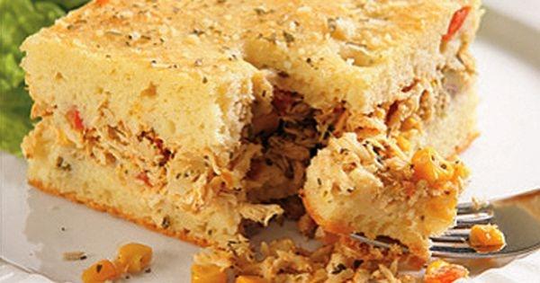 Torta de frango no liqüidificador