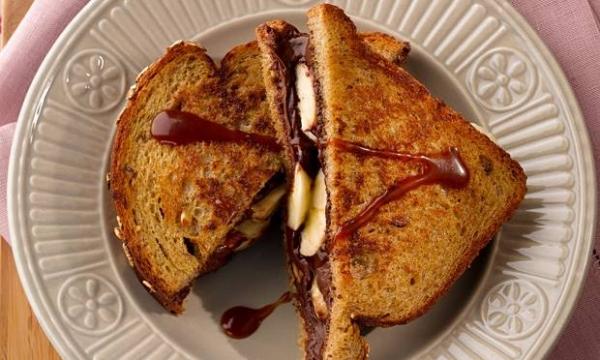 Sanduíche de Cream Cheese com Chocolate
