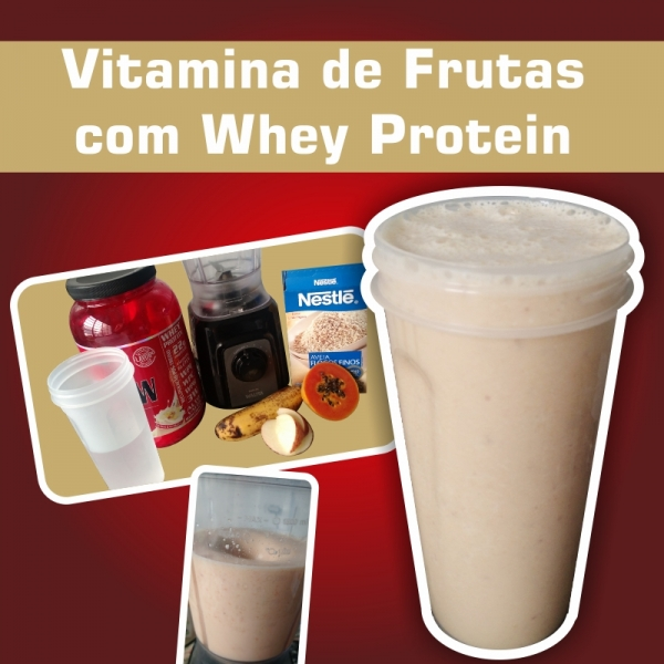 Vitamina de Frutas com Whey Protein