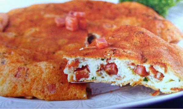 Omelete Suflê com Bacon