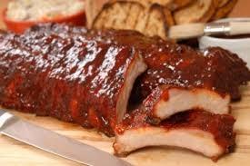 Costela de porco ao molho barbecue