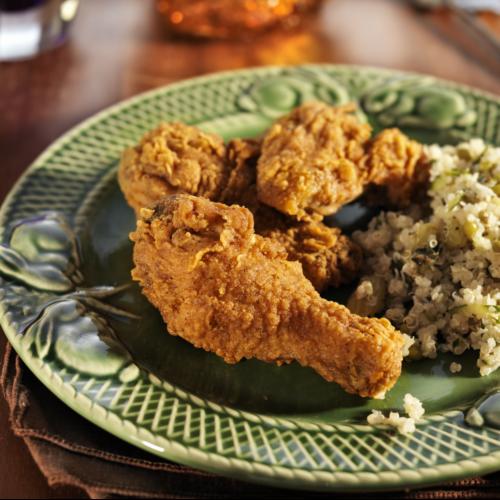 Coxa de frango com ervas