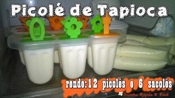 Picolé de Tapioca da Rosinha!!