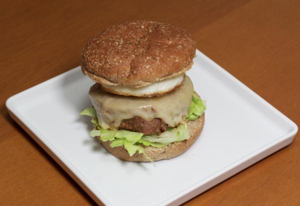 Hambúrguer de medalhão de filé mignon